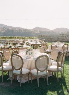 Vineyard-Style California Wedding at Sunstone Villa - MODwedding #tablescapes
