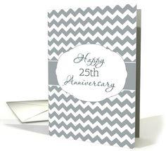 For Employee, Happy 25th Anniversary, Chevron card