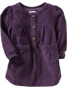 Button-Front Jumpers for Baby | Old Navy Вельветовая туника. Хлопок.