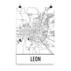 Kyoto city map city maps kyoto and city leon nicaragua street map poster publicscrutiny Choice Image