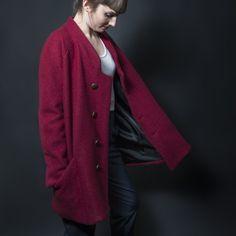 Rep du chiffon pattern RAYMOND Coat