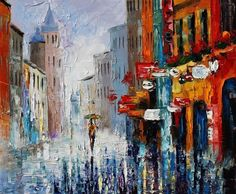 Image selected for Amazing Paintings from Leonid Afremov Art And Illustration, Art And Craft Shows, Amazing Paintings, Marc Chagall, Leonid Afremov Paintings, Fantastic Art, Oil Painting On Canvas, Art Images, Cool Art