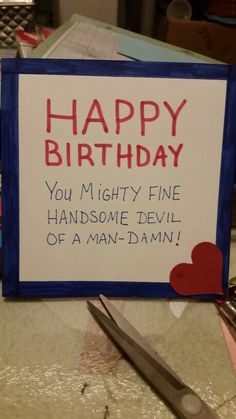 Birthday to man, husband or boyfriend