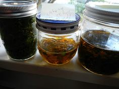 how to make herbal tinctures and infused oils