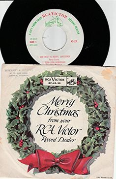 "45vinylrecord God Rest Ye Merry Gentlemen/Good King Wenceslas/Silent Night/Hark! The Herald Angels Sing (7"" 45 EP w/PS) RCA VICTOR http://www.amazon.com/dp/B018EYASMI/ref=cm_sw_r_pi_dp_6e3uwb1ZEVA5Y"