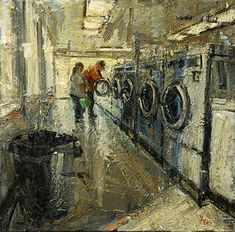 Donald Yatomi - Laundromat 029- Oil - Painting entry - January 2018 | BoldBrush Painting Competition