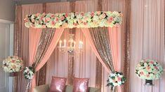 Diy Wedding Flower Centerpieces, Wedding Stage Decorations, Diy Wedding Flowers, Simple Stage Decorations, Wedding Favors, Diy Backdrop, Backdrop Decorations, Backdrops, Desi Wedding Decor