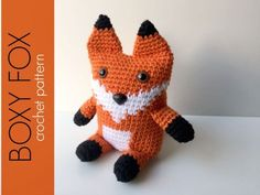 This crocheted Boxy Fox Amigurumi is made with a rectangular base which gives it the boxy shape. The arms, legs and tail are crocheted into the body so they are very securely attached. This along with the safety eyes and nose make it a great little stuffed animal for kids to play with. The ears are sewn on as the top of the head is sewn closed. Weighted stuffing beads sewn in a little fabric pouch and inserted in the bottom help the fox sit up. Project Note:The arms, legs, tail and ears are…