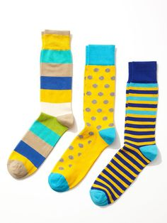 Argyle, Polka Dot, and Stripe Socks (3 Pack) by Clapham at Gilt