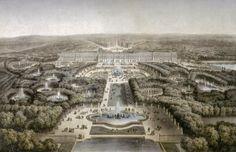 Espectáculos en las fuentes de los jardines de Versalles en verano.