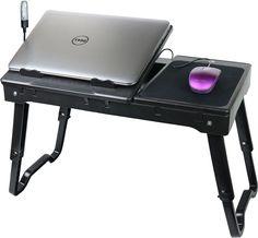 Adjustable Portable Folding All Purpose Serving Tray Table Breakfast Table Tilt #AdjustablePortable