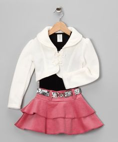 Take a look at this Pale Pink Corduroy Skirt Set - Toddler & Girls by Citlali's Choice on #zulily today!