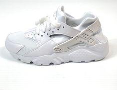 Nike Huarache Run (GS) Size 6.5Y Kid Shoes White Platinum 654275-110 NIB  85 66b90ff7a3068