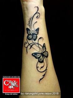 tattoo by Tarun Gohil for girls wrist tattoo. … Butterfly tattoo by Tarun Gohil for girls wrist tattoo.Butterfly tattoo by Tarun Gohil for girls wrist tattoo. Butterfly Wrist Tattoo, Butterfly Tattoos For Women, Flower Wrist Tattoos, Butterfly Tattoo Designs, Small Wrist Tattoos, Henna Tattoo Designs, Foot Tattoos, Body Art Tattoos, Sleeve Tattoos