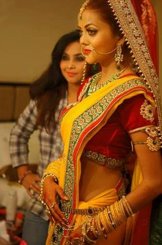 Traditional indian bridal look by kajal sharma