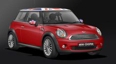 Mini Cooper w/ British Flag