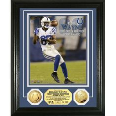 Indianapolis Colts NFL Reggie Wayne 1000 Career Receptions Gold Mint Coin Photo Mint