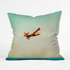 Take Flight Gradient Throw Pillow Cover | dotandbo.com