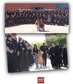 Heroes, all! Phoenix PD officer Daryl Raetz was killed 3 days before his daughter Tatum was graduating from kindergarten – so all these Phoenix Police Officers attended in his place yesterday, to support her, during this incredibly difficult time.   These LOVING officers are displaying in their actions that Everyone Matters.  #EveryoneMatters #Police #officers #heros #kindergarten #phoenix