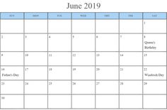 June 2019 Calendar with Holidays Printable USA, UK, Canada, India, Australia June 2019 Calendar, Holiday Calendar, South Africa Holidays, June Solstice, Emancipation Day, State Holidays, Indigenous Peoples Day, Canada Holiday