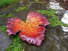 Decorative Concrete Leaf Casting