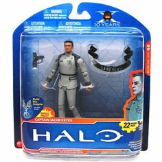 "CAPTAIN JACOB KEYES Series 2 Halo Anniversary McFarlane 6"" Action Figure"