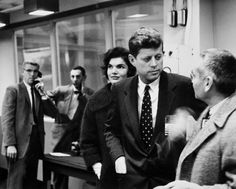 Massachusetts Senator John F. Kennedy and wife Jacqueline Kennedy visiting the Homogeneous Reactor Experiment No. 2 during a campaign visit at the Oak Ridge National Laboratory (ORNL), Oak Ridge, Tennessee.