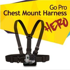 Adjustable Chest Mount Harness Chesty Strap for SJ4000 GoPro HD hero 1 2 3