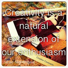 Creativity & Enthusiasm.... Definitely one of my Creative Covenants! What are yours?  Join me this Spring online @ Spectrum 2015 as we explore our creative values & permission through #artjournaling: #holisticcreative #creativeadventure