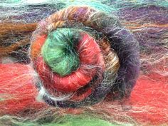 Corriedale/Sparkle Witch's Apprentice spinning batt by AlmaPark, $10.50