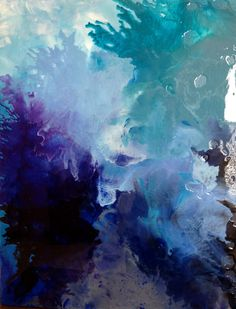 Very beautiful - love it. Original 22X28 Abstract Acrylic Painting with Melted…