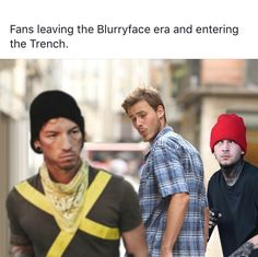 Can't believe that Blurryface was released 4 years ago, today! I joined this fandom during that era and I kinda miss it Twenty One Pilots, Twenty One Pilot Memes, Emo Bands, Music Bands, Imagine Dragons, Indie, Tyler And Josh, Top Memes, Band Memes