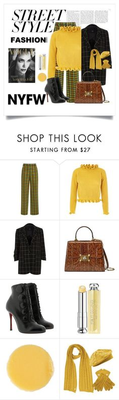 """""""Street Style"""" by mapsbabe47 ❤ liked on Polyvore featuring Tome, River Island, Gucci, Christian Louboutin, Christian Dior, Lipstick Queen, contestentry and nyfwstreetstyle"""