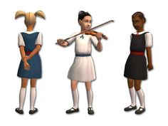 "whattheskell: ""School Dresses by Fakepeeps7 """