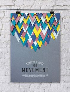 Paper Art: Principle of Design Poster Series: Balance, Hierarchy, Pattern, Rhythm, Space, Proportion, Emphasis, Movement, Contrast, Unity.