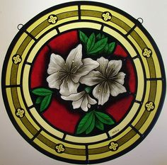We design and build traditional stained glass windows in our studio in Italy. Each window is decorated with beautiful painting of the highest skill.