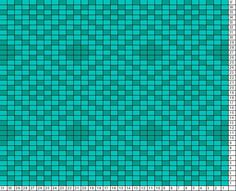 Tricksy Knitter Charts: Alternating diamonds-10 st repeat teal by Megan Goodacre