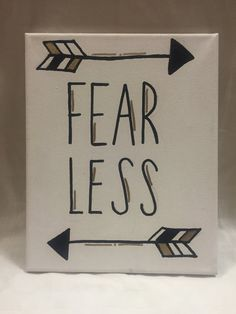 11x8 Black and Gold Painted Fearless Canvas by CanvasesByChey
