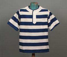 Mens 1960s Shirt  Crisp Blue & White Lightweight by jauntyrooster