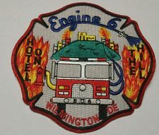 Wilmington Fire Department Delaware Engine 6 Patch