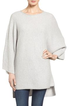 Halogen® Ribbed Cashmere Poncho