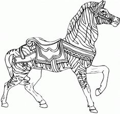 Quirky Artist Loft: Free Carosel Coloring Book Pages