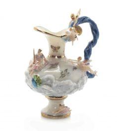 A Meissen Style Porcelain Miniature Ewer, Jack Cashmere