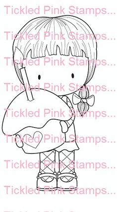 "C.C. Designs Tickled Pink """"Cupcake Cherrie"""" Rubber Stamp"