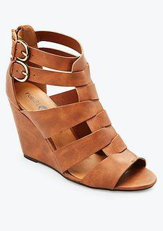 Interlock Strap Wedge Sandal