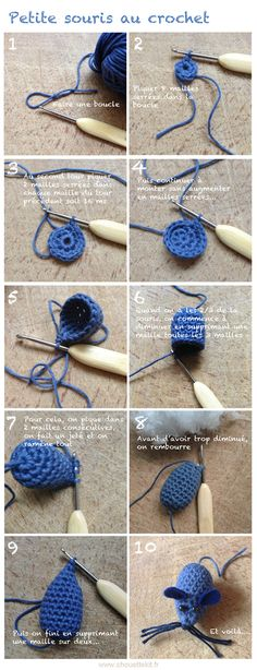 Tutoriel souris au crochet Chouette kit/ Tutorial for crochet mouse