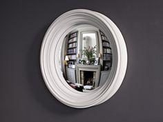 Medium Lucca convex mirror in palest grey finish Small Round Mirrors, Convex Mirror, Lucca, It Is Finished, Medium, Grey, Interior, Wall, Modern