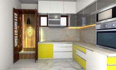 Kitchen Ideas, Kitchen Design, Pooja Room Door Design, Pooja Rooms, Room Doors, Mumbai, Kitchen Cabinets, Flat, Interior Design