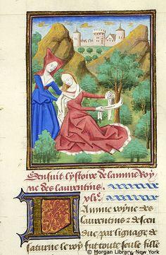Medieval Manuscript Images, Pierpont Morgan Library, Livre des cleres et nobles femmes. MS M.381 fol. 22r