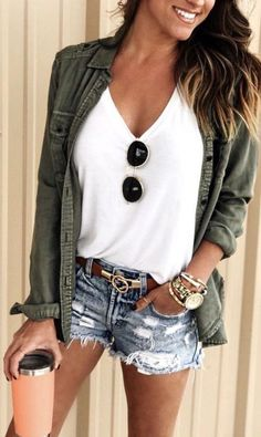 How To Give A Glamour Touch To Your Summer Casual Outfit Look - fashion beauty Cute Summer Outfits, Outfits For Teens, Spring Outfits, Trendy Outfits, Cool Outfits, Fashion Outfits, Outfit Summer, Summer Clothes For Women, Black Outfits